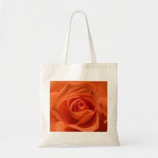 Orange Rose Tote Budget Tote Bag