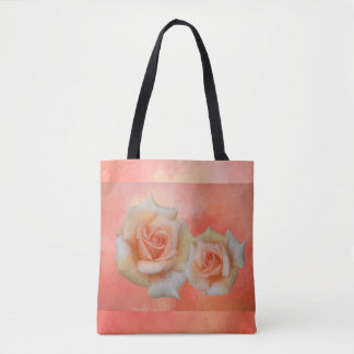 Orange Roses Abstract Tote Bag