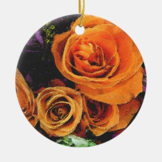 Orange Roses Ornament