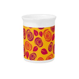 Orange roses pattern pitcher