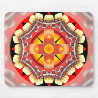 Orange Roulette Mouse Pad