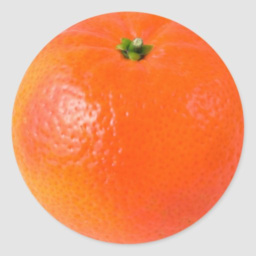 Orange Round Sticker