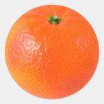 Orange Round Stickers