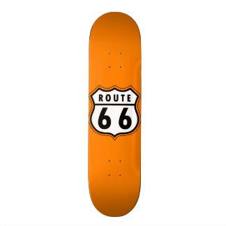 Orange Route 66 Road Sign 20 Cm Skateboard Deck