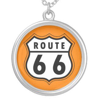 Orange Route 66 Road Sign Custom Jewelry