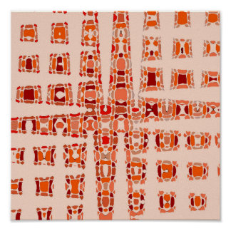 Orange Rows Poster