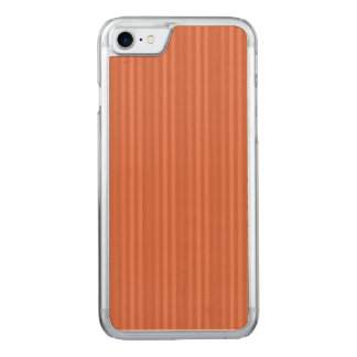 Orange Rust Vertical Stripes Pattern Carved iPhone 8/7 Case