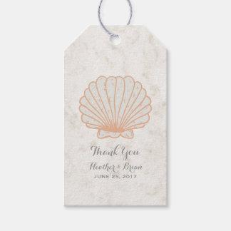 Orange Rustic Seashell Wedding