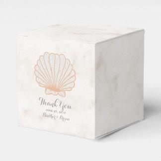 Orange Rustic Seashell Wedding Favour Box