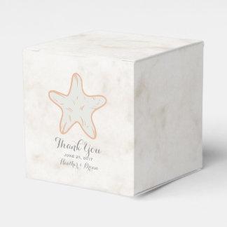 Orange Rustic Starfish Wedding Wedding Favour Boxes
