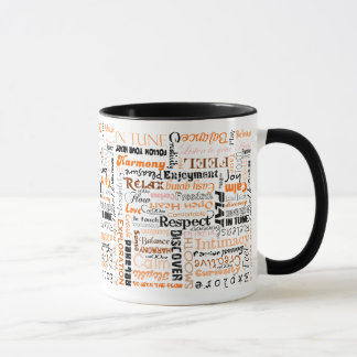 Orange Sacral Chakra Positive Affirmations Mug
