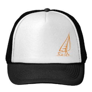 Orange Sailing Trucker Hat