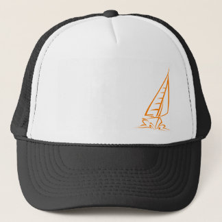 Orange Sailing Trucker Hat