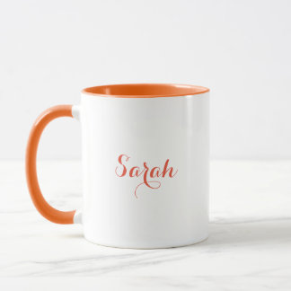 Orange Sarah Mug