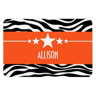 Orange Sassy Star Zebra Premium Magnet