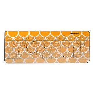 Orange Scales Fishscales Mermaid Sherd Squama Wireless Keyboard