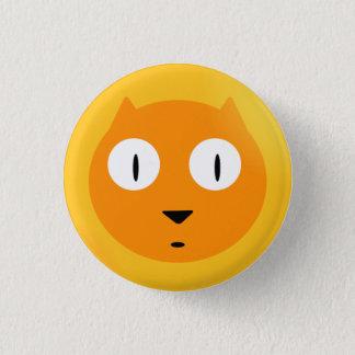 Orange Scaredy Cat 3 Cm Round Badge