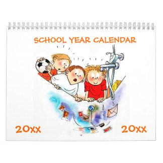 Orange School Year Calendar For Kids