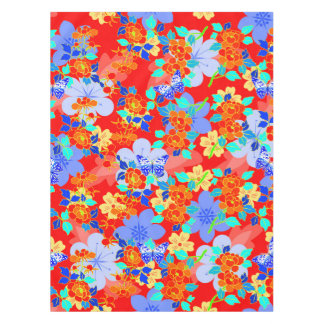 Orange Seamless Pattern Vector Retro Tablecloth