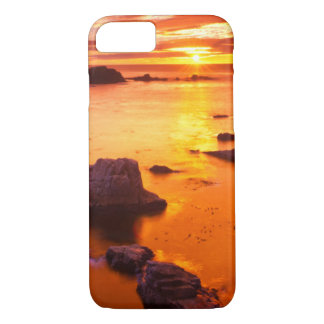 Orange seascape, sunset, California iPhone 8/7 Case