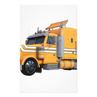 Orange Semi Tractor Trailer Stationery