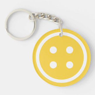 Orange Sewing Button Key Ring
