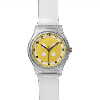 Orange Sewing Button Watch