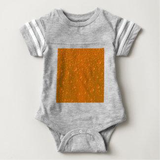 Orange Shade Bibble Background Baby Bodysuit