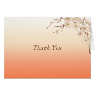 Orange Shades Branch of White Blossoms Card