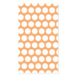 Orange Sherbet and White Polka Dots Pack Of Standard Business Cards