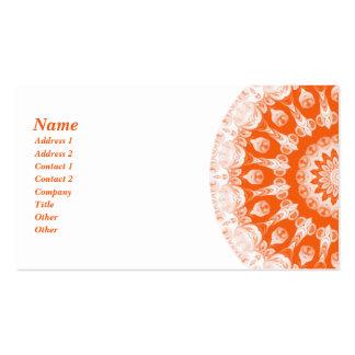 Orange Sherbet Kaleidoscope Business Card