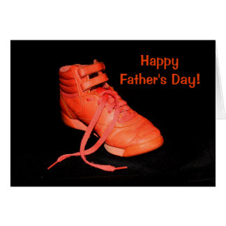 Orange Shoe Glad I'm Your Son? Father's Day Card
