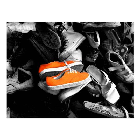 Orange Shoes Postcard