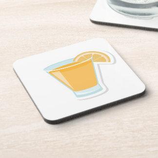 Orange shot drink coasters