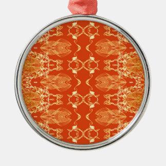 orange Silver-Colored round decoration