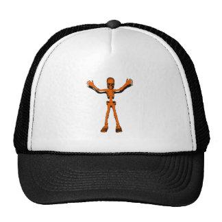Orange Skeleton Cap