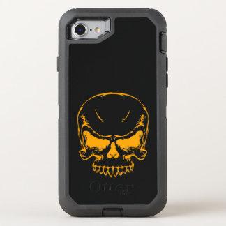 orange skull head OtterBox defender iPhone 7 case