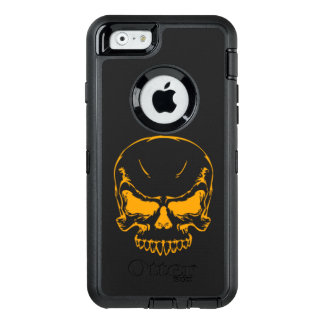 orange skull head OtterBox iPhone 6/6s case