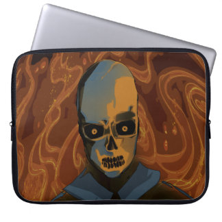 Orange Skull Laptop Sleeve