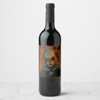 Orange Skull Wine Label
