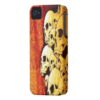 Orange Skulls iPhone 4/4s Mate ID Case