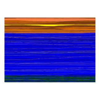 Orange sky blue sea business card