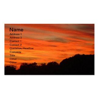Orange Sky Landscape Business Card