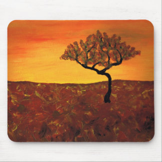 Orange Sky Mouse Pad