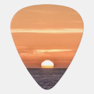 Orange Sky Ocean Sunset Plectrum