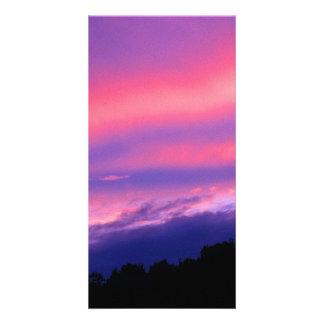 Orange Sky Picture Card