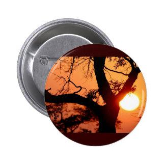 Orange Sky Pinback Button