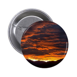 Orange Sky Pinback Buttons