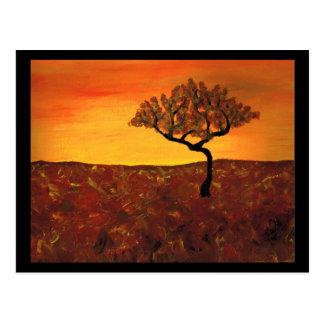 Orange Sky Postcard