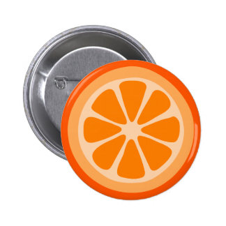 Orange Slice 6 Cm Round Badge